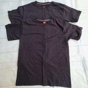 Hanes X-Temp Boys Tagless T-Shirt Black Medium